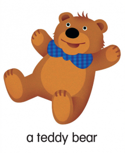 LB LG Teddy Bear pic card