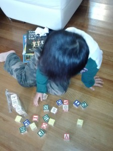 Making words with alpha blocks